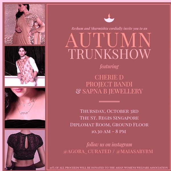 Autumn Trunk Show Singapore October Event